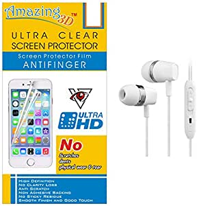 Generic Ultra Clear Screen Protector For Lava X1 And Free In-Ear Earphones