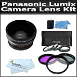 Lens Kit Includes 52mm 3pc High Resolution Multi Coated Filter Kit + HD .45x Wide Angle Lens W/ Macro + 4 Piece...