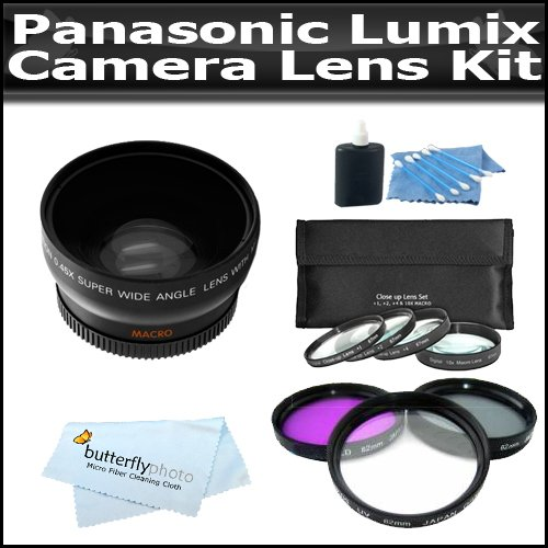 Lens Kit Includes 52Mm 3Pc High Resolution Multi Coated Filter Kit + Hd .45X Wide Angle Lens W/ Macro + 4 Piece Close-Up Filter Set Includes +1 +2 +4 +10 + More For The Panasonic Lumix Dmc-G10, Dmc-G1, Dmc-G2, Dmc-Gf2, Dmc-G3, Dmc-Gf3 Digital Camera