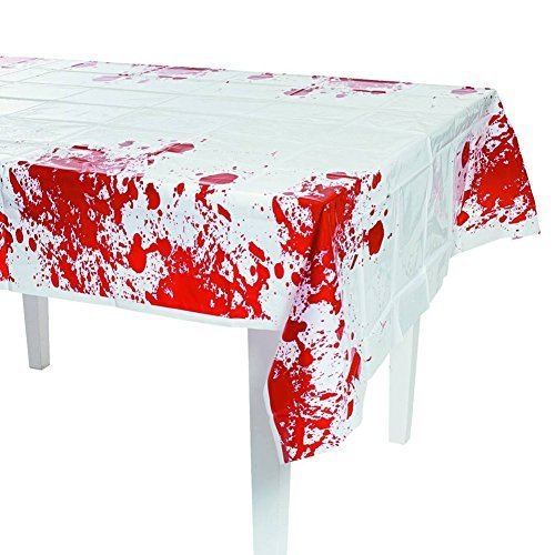Halloween Party Zombie Blood Tablecover - 54in x 108in (4-Pack) - 1