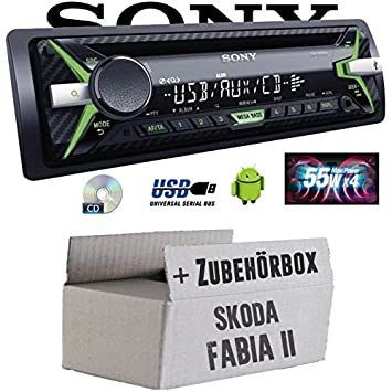 Skoda Fabia 2 - Sony CDX-G1102U - CD/MP3/USB Autoradio - Einbauset