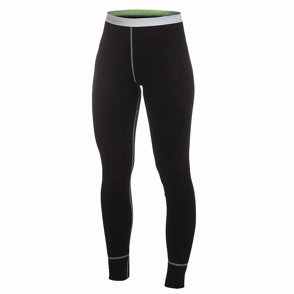 Woolpower – Long Johns Lite (Damen) – Funktionsunterwäsche – Black/Light Green (Damen) günstig online kaufen