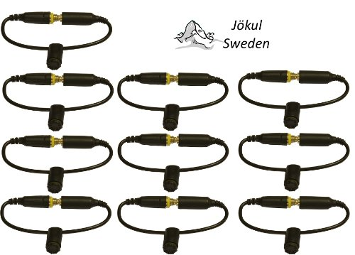 Jökul ® 10 Pack Generic Lifeproof Headphone Wires / Adapter Replacement Black - Jacks / Seals / Covers / Screws For Iphone 5/5S/5C Case