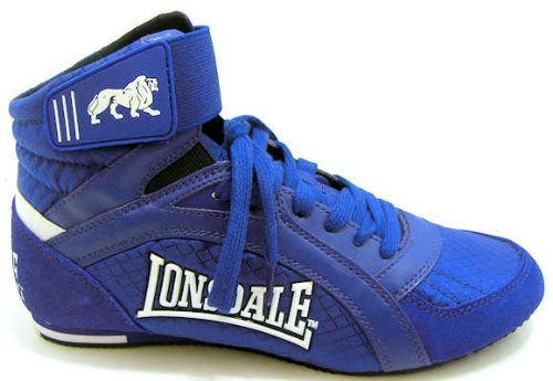 Lonsdale Boys Lba328ee Blue London Lace Up Boxing Boots