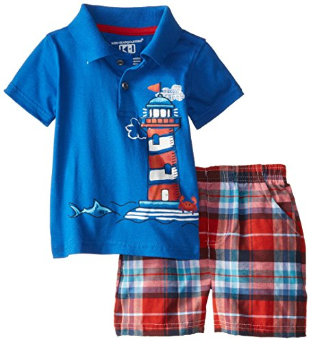 kids-headquarters-baby-boys-polo-top-with-plaid-shorts-light-house-navy-12-months