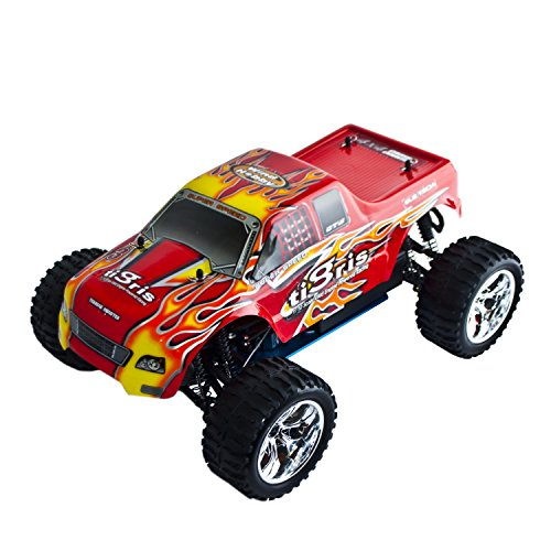 ALEKO RCC1088URED 1/10TH Scale 4WD Nitro Powered Monster Truck, Red