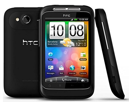 HTC A510e Unlocked Phone with Android 2.3.3, 5MP Camera, WiFi, GPS and Bluetooth - No Warranty - Black