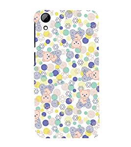 Cute Kitty Cycle 3D Hard Polycarbonate Designer Back Case Cover for HTC Desire 728G Dual Sim::HTC Desire 728G::HTC Desire 728