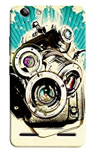 Omnam Collage Made Up Of Camera Printed Designer Back Cover Case For Lenovo Vibe K5 Plus