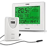 X-Sense Wireless Indoor/Outdoor Weather Station with Temperature, Humidity, Moon Phase