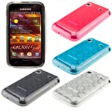MEGASET:4x TPU CASE Bubble-Design fr Samsung Galaxy i9001 S Plus (Wei, Schwarz, Pink, Blau) + Premium DISPLAYSCHUTZFOLIE von kwmobile
