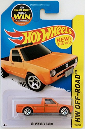 Hot Wheels, 2015 HW Off-Road, Volkswagen Caddy [Orange] Die-Cast Vehicle #124/250