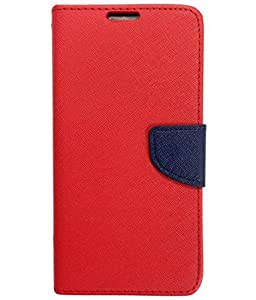 Ceffon Flip Cover Case For Sony Xperia Z5 Premium-Red Blue
