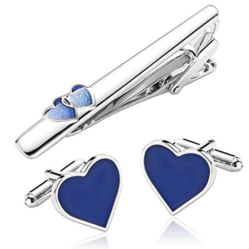 alimab-gemelli-da-uomo-fermacravatta-set-cuore-blu-acciaio-inossidabile-fermacravatta-matrimonio-uom