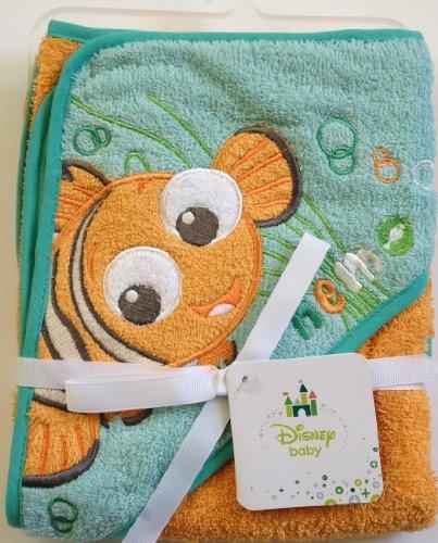 Disney Finding NEMO Baby Hooded Hoodie Bath Towel 26 in x 30 in - 1