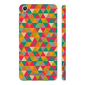 Enthopia Designer Hardshell Case Pink Triangles Back Cover for Lava Pixel V1