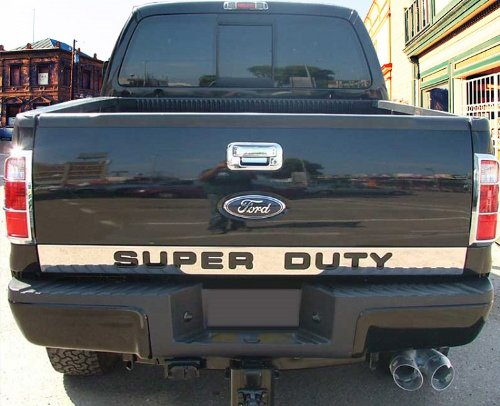 made in usa 08 15 ford f250 f350 super duty tailgate chrome stainless steel molding moulding. Black Bedroom Furniture Sets. Home Design Ideas