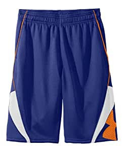 "Under Armour Big Boys' UA EZ Mon-Knee 10"" Basketball Shorts YXS Royal"
