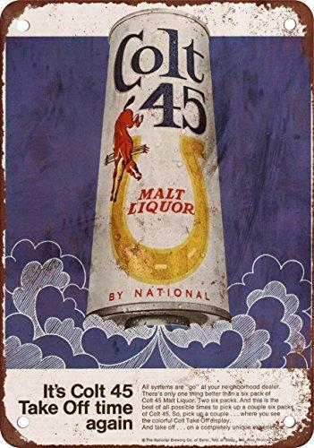 1969-colt-45-malt-liquor-e-luna-razzi-look-vintage-riproduzione-in-metallo-tin-sign-305-x-457-cm