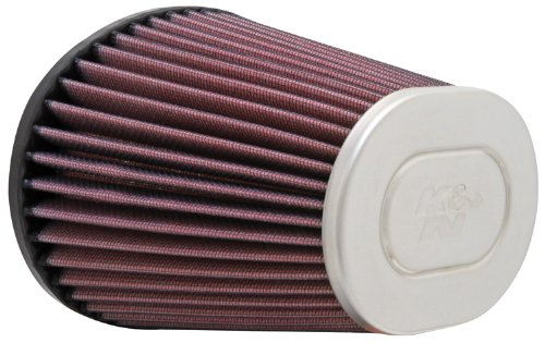 K&N RC-5000 High Performance Universal Clamp-on Chrome Air Filter
