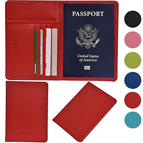 11. Outrip RFID Blocking Leather Passport Holder & Travel Wallet Id Card Case Cover