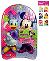 "Minnie Mouse Kickboard (17""x10"") and Disney Princess Stickers (3""x6"" - 4 Sheets - $3.99 Value) - Two (2) Disney Toys for Girls - Stickers feature Ariel, Snow White, Belle, Jasmine, Cinderella and Little Mermaid from UltimateGifts"