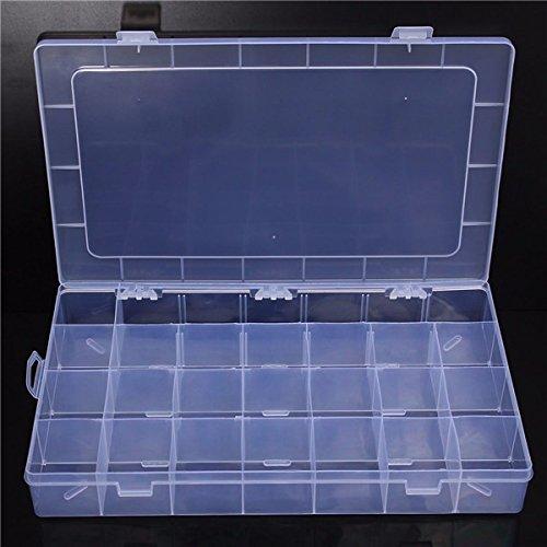 (7952-i) MINI ADJUSTABLE STORAGE BOX 23 SLOTS COMPARTMENTS ORGANISER