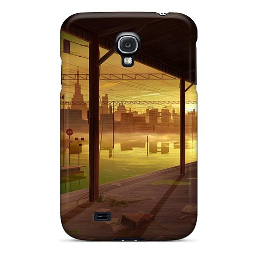 Slim Fit Tpu Protector Shock Absorbent Bumper Brunettes Sunset Cityscapes Telescope Umbrellas Case For Galaxy S4