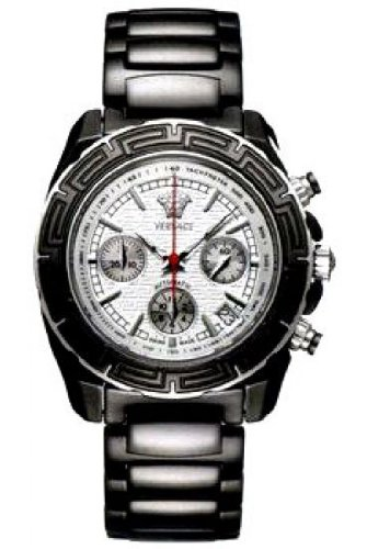 Versace 11CC9D001 SC09 Gents Chronograph Black Ceramic Bracelet Watch