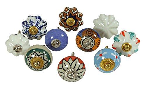 cajon-de-ceramica-de-epoca-tire-multicolor-knob-unicos-del-gabinete-perillas-lote-de-10-piezas