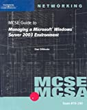 img - for MCSE Guide to Managing a MS Windows Server 2003 Environment, Exam #70-290 book / textbook / text book
