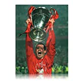Jamie Carragher Signed Liverpool Photograph: Champions League Final Istanbul 2005