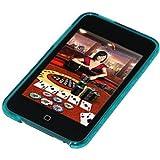 Amzer - Cover posteriore in gel con motivo a rombi per iPod Touch 2G / 3G, colore: Blu