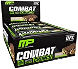 Combat Crunch Bars by MusclePharm - Low Carb, High Protein Muscle Building Supplement (12 Bars) (Chocolate Chip Cookie Dough)