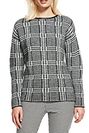 Checked Jumper with Mohair [T38-7157-S]