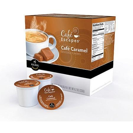 Cafe Escapes Cafe Caramel K-cups Coffee, 16 Count (Pack of 2)