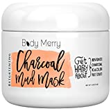 Brightening Charcoal Mud Mask- Facial Scrub Cleans Skin, Clears Blackheads, Unclogs Pores; Fight Acne& Detoxify + Brighten Complexion w Best Anti-Aging Fruit Extracts + Bentonite + Kaolin