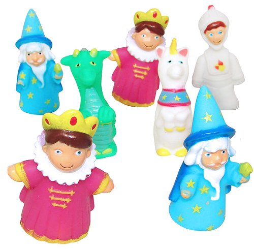 Finger Puppets Set with Princess, Knight, Dragon, Unicorn, Frog Prince, and Wizard