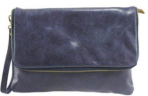 CTM Borsetta da Donna, Pochette Elegante, 27x18x3cm, Vera Pelle 100% Made in Italy