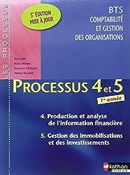 Processus 4 et 5 Production et analyse de l'information financière - Gestion des immobilisations et des investissements BTS CGO 1re année