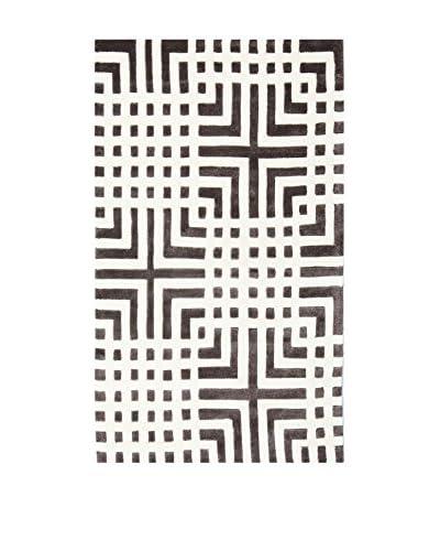 Tapis a Porter Alfombra Vision Greco Blanco/Negro 90 x 160 cm