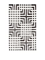 Homemania Alfombra Vision Greco Blanco/Negro 90 x 160 cm