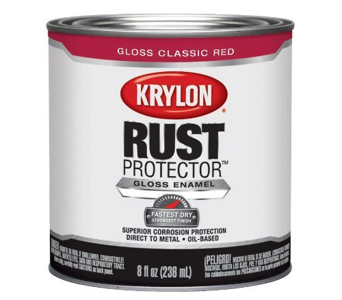 krylon-69103-rust-protector-with-brush-on-8-ounce-preventative-enamel-gloss-classic-red-by-krylon