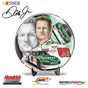 Dale Jr. 2008 AMP Energy No. 88 Impala SS NASCAR Racecar Collector Plate by The Hamilton Collection