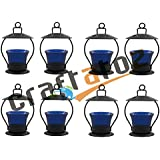Christmas Gift Home Decorative Tealight / Candle Light ( Blue ) Pack Of 8