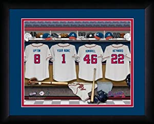 MLB Personalized Locker Room Print Black Frame Customized Atlanta Braves by You