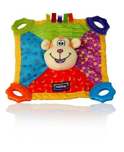 Nuby Teething Blankie. Squeak & Crinkle Teether & Blanket. Monkey