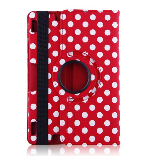 "Generic Auto Sleep/Wake All-New Pu Leather Luxury Stylish Slim-Fit Ultra Lightweight 360 Degrees Rotating Swivel Stand Polka Dot Pattern Design Series Smart Cover Case Skin Multi-Angle Viewing For Amazon Kindle Fire Hdx 8.9"" Tablet 8.9"" Hdx Display, Wi-Fi"