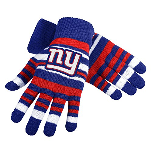NFL Football Team Logo Stretch Gloves - Pick Team (New York Giants) (New York Giant Gloves compare prices)