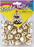 Fiber Craft 20-Pack Jingle Bells, 25mm, Gold